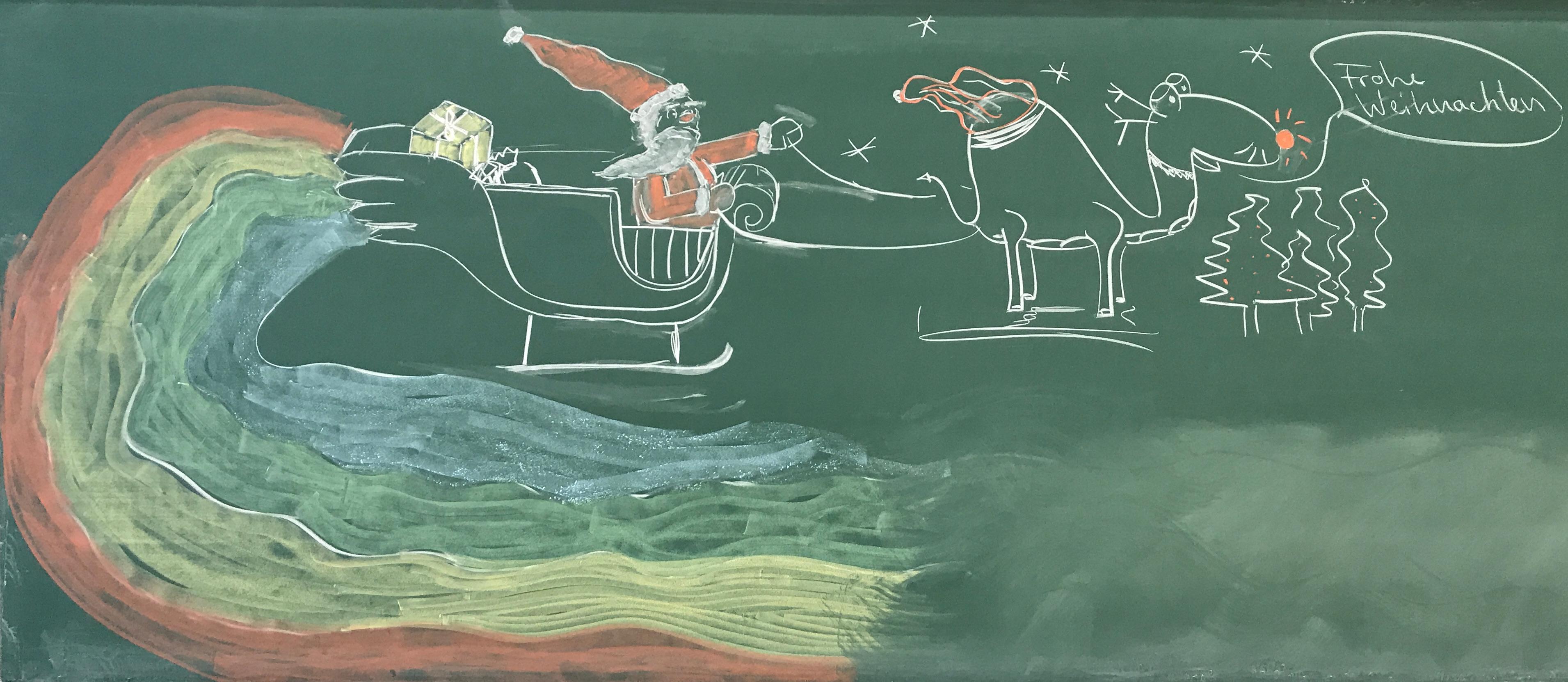 "Blackboard Arts ""Frohe Weihnachten"""
