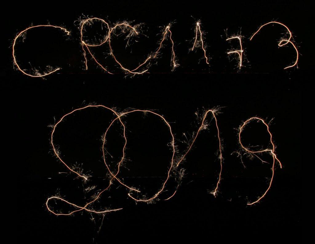 "Sparkler writing ""CRC1173 2019"""